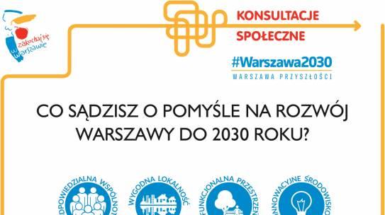 """Konsultacje społeczne """"Strategia Rozwoju Warszawy do 2030r"""""""