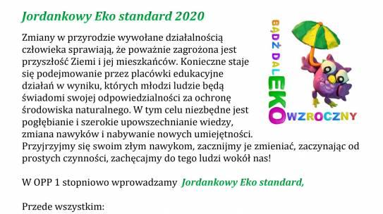 Jordankowy Eko standard