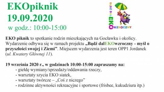 EKOpiknik i Giełda rzeczy używanych – 19.09.2020