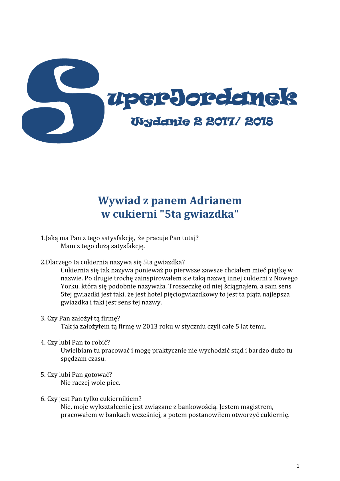 """""""Super Jordanek"""" wyd. 2, 2017/2018"""